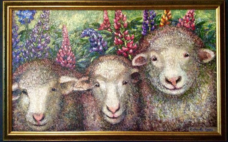 three sheep - Image 0