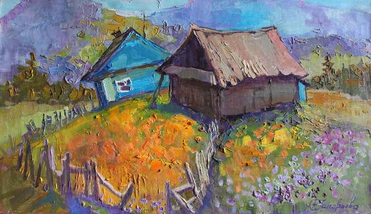 Landscape. Spring tango -