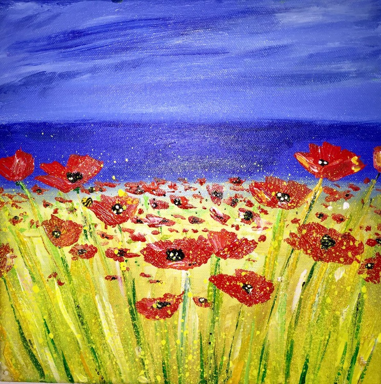 Large Red Poppies - Image 0