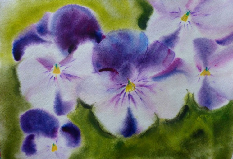 Pansies, mini art 21x30 cm - Image 0
