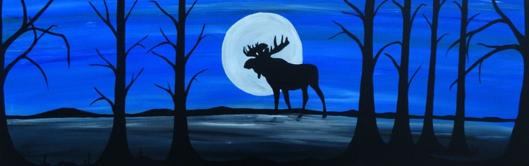 Silhouette moose - Image 0