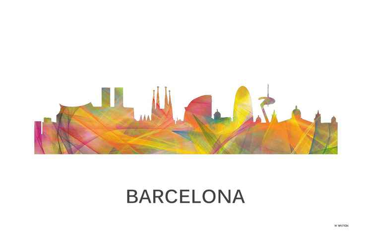 Barcelona, Spain Skyline WB1 -