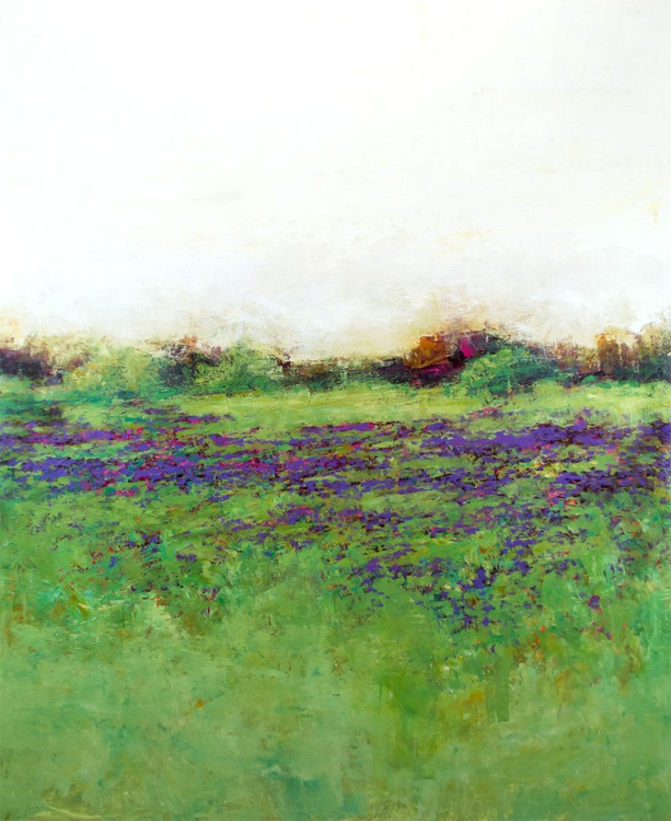 Violet Fields 46x56 inches - Image 0