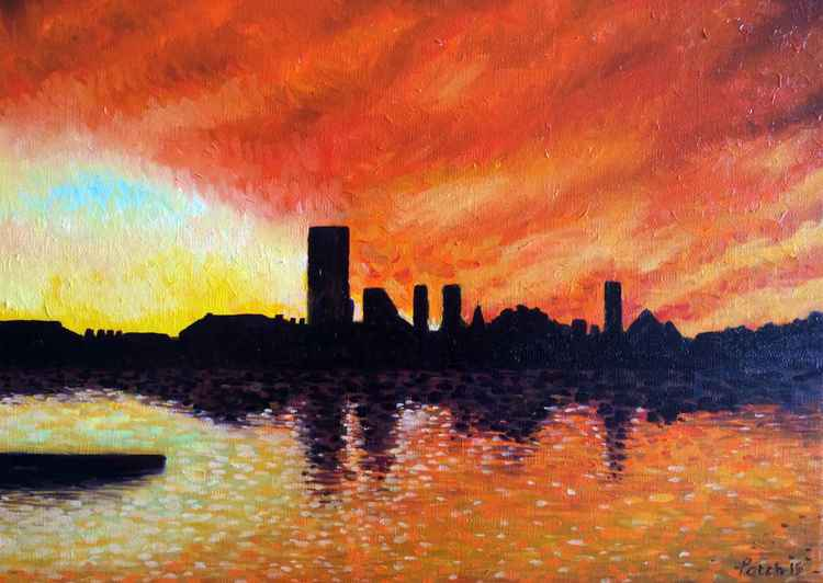 Sunrise over Wapping London -