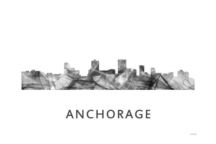 Anchorage Skyline WB BW -