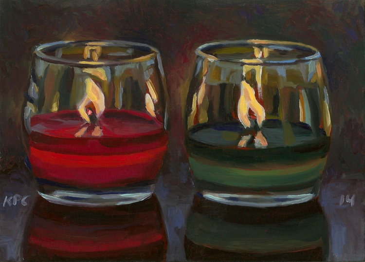 Red and Green Candles - Image 0