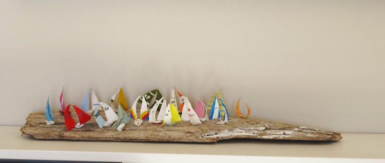 Driftwood sculpture...sail away... - Image 0