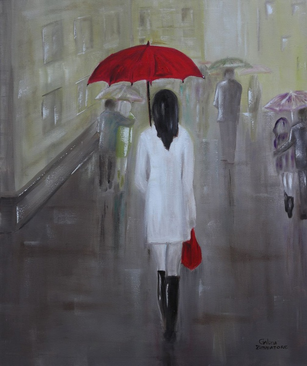 Girl with the Red Umbrella - Image 0