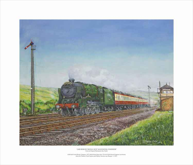 'LMS Rebuilt Royal Scot 46109 Royal Engineer' - Limited Edition