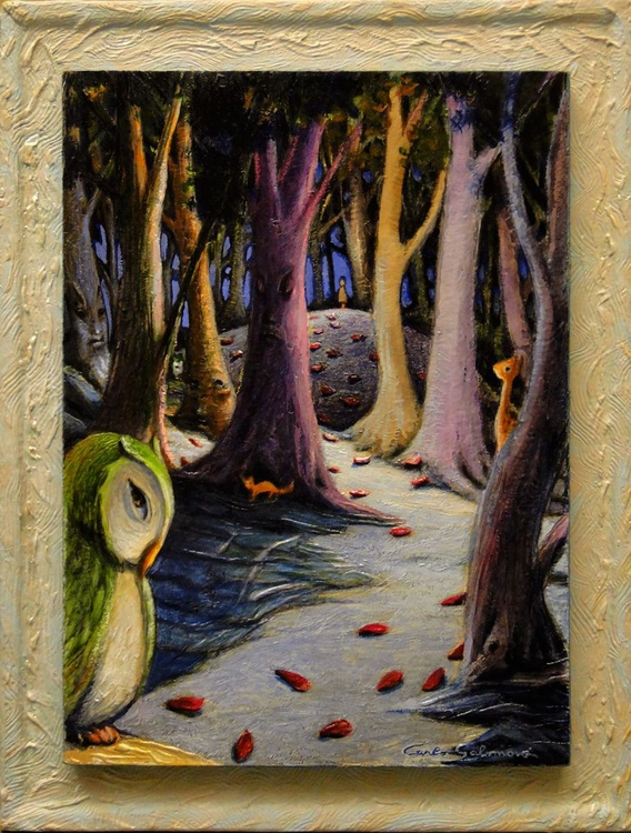 THUMBLING AND THE FRIENDS OF THE WOOD -(framed) - Image 0