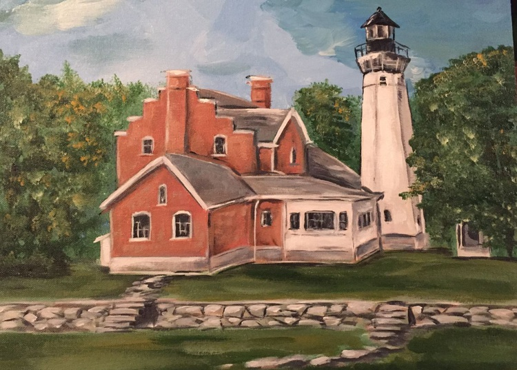 Michigan Lighthouse Series # 6 - Port Sanilac - Image 0