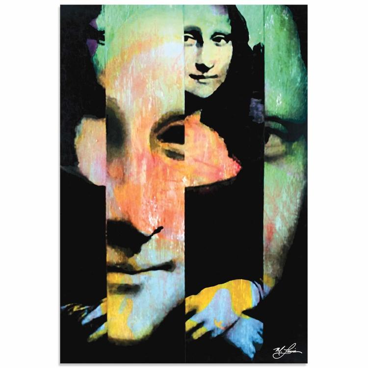 Mark Lewis 'Mona Lisa Noble Purity' Limited Edition Pop Art Print on Metal - Image 0
