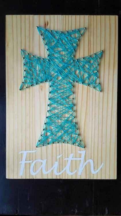 Faith Cross - In Teal -