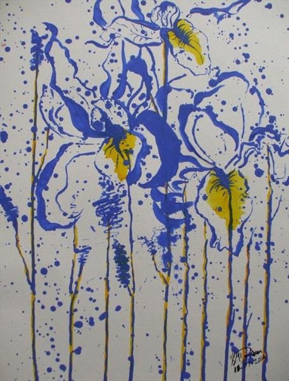 Inked Irises - Image 0