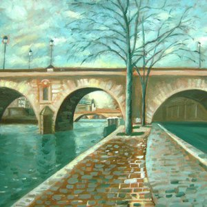 Bridge on the Seine in Paris SOLD by Mary Stubberfield