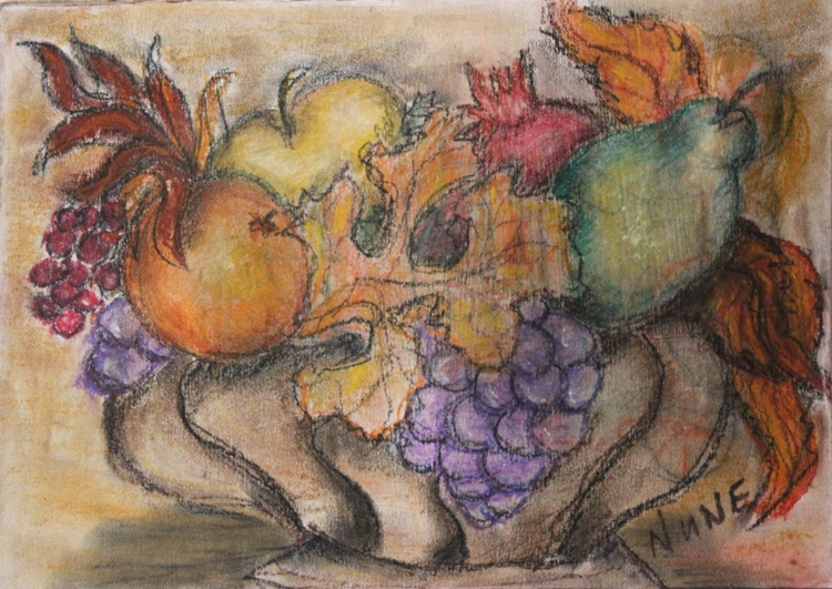 Vase with fruits - Image 0