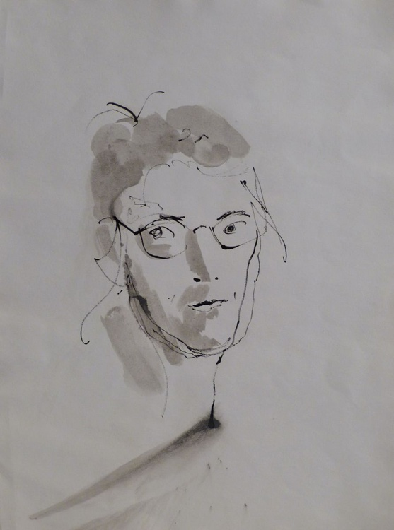 Self-portrais with glasses,  24x32 cm - Image 0