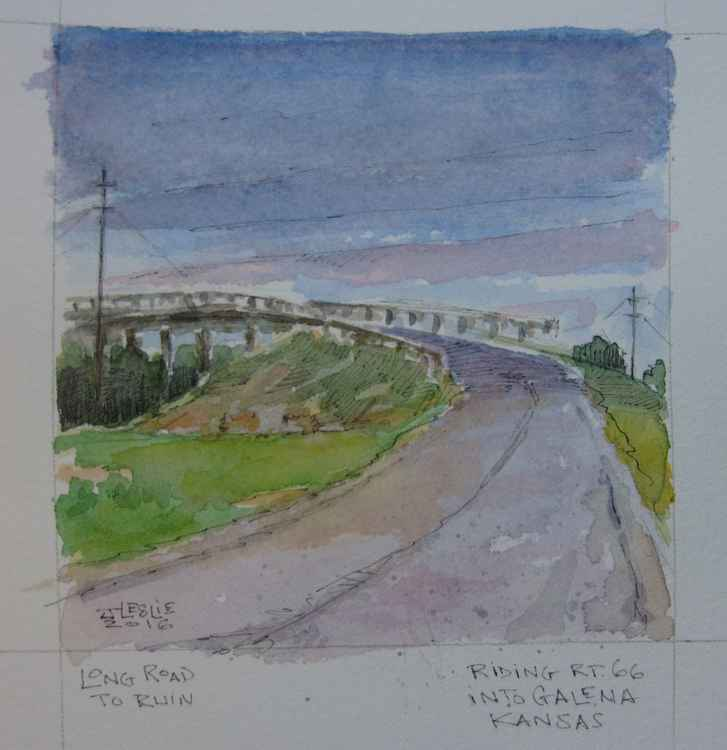 Study for Long Road to Ruin, Rt. 66 Galena, Kansas -