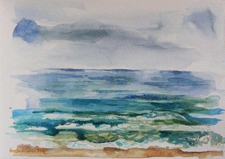 """Beach, plein air, gift, 11"""" X 8"""", wall decor - Image 0"""