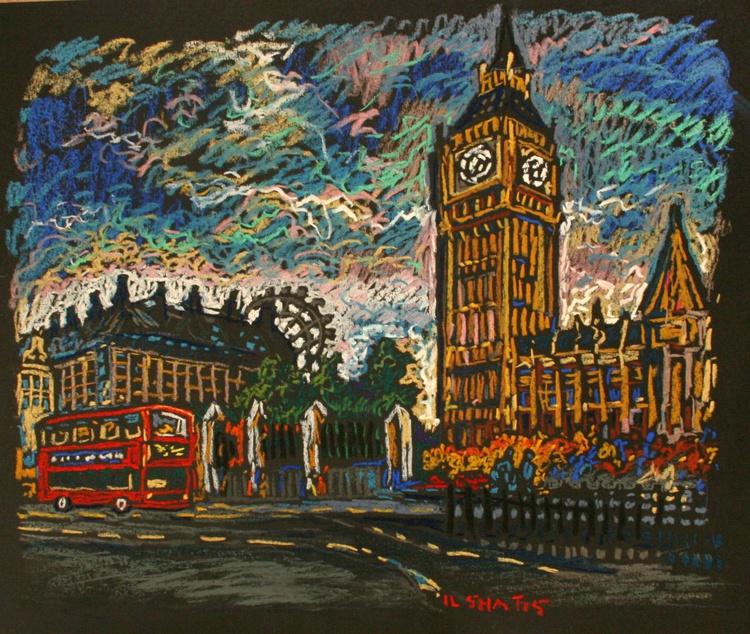 London. Pastel. 2 - Image 0