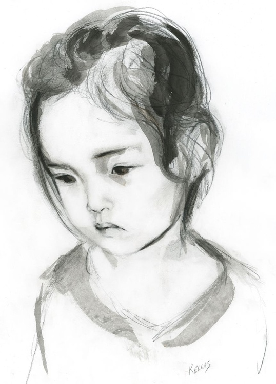 Drawing of a girl - Image 0