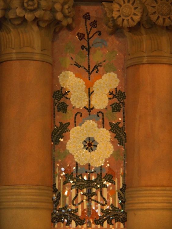 Casa Lleo Morera: External wall mosaic - Image 0