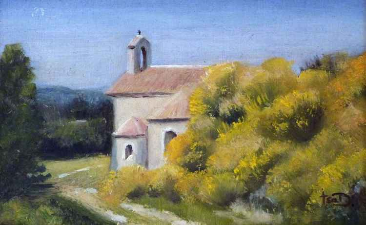Chapel in the broom plants. -