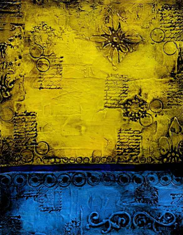 Yellow and Blue Textures II -