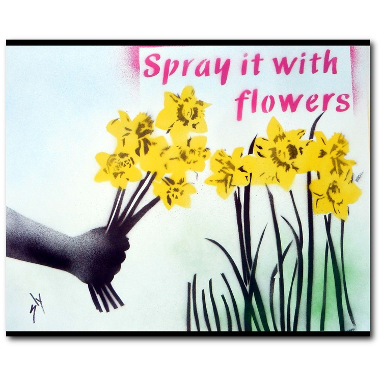 Spray it with Flowers (On Plain Paper) +FREE Poem - Image 0