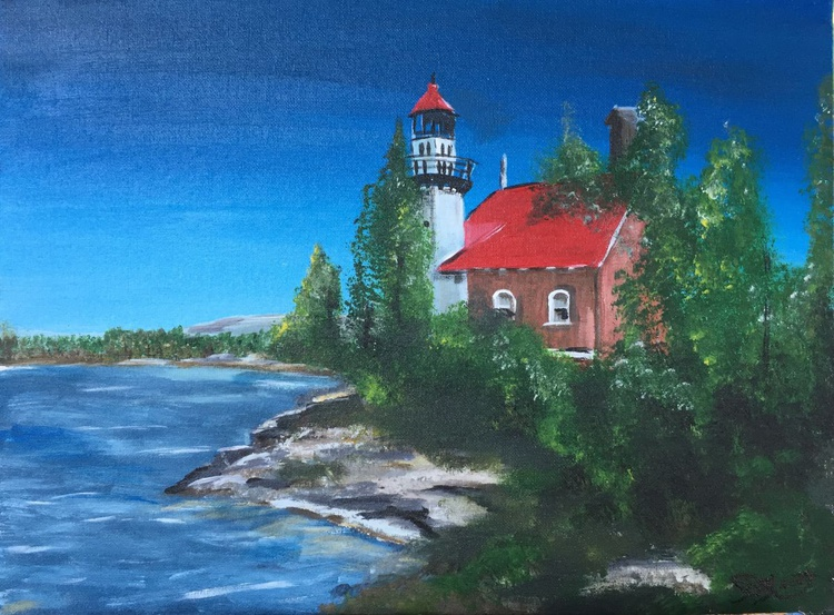 Michigan Lighthouse Series #1 Eagle Harbor - Image 0