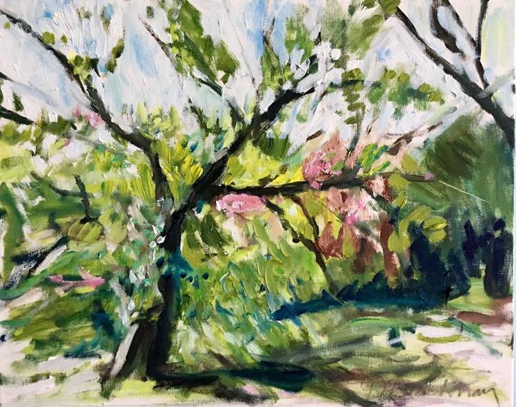 Spring Tree, 2016, small impressionist landscape - Image 0