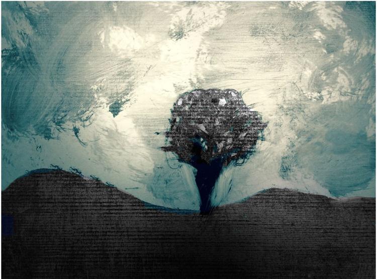 Mono Tree On Moor - Image 0