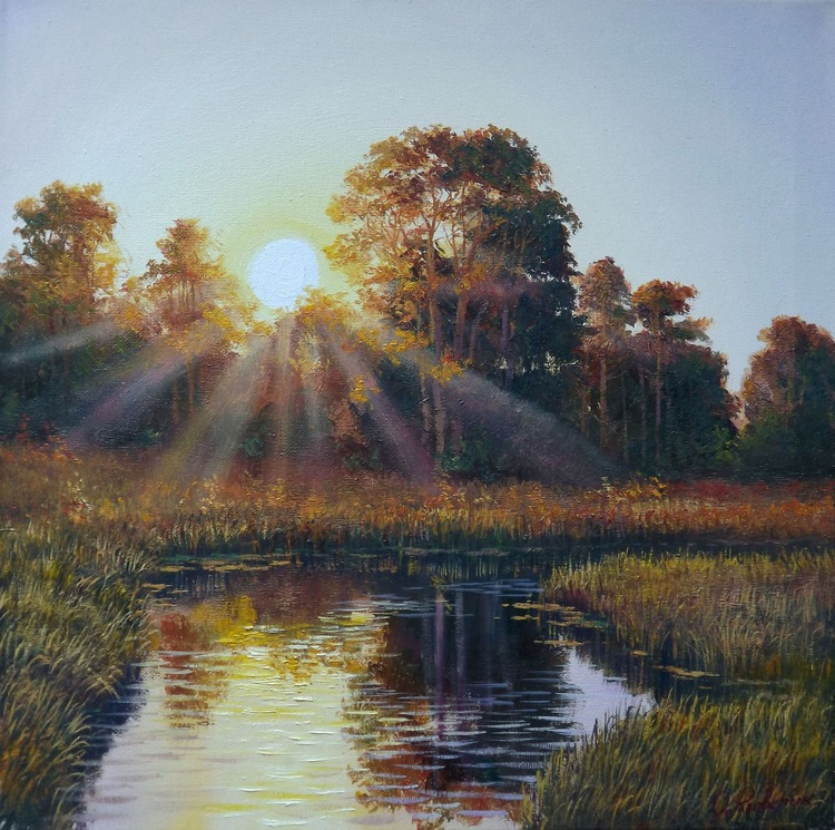 Sunrise over the river - Image 0
