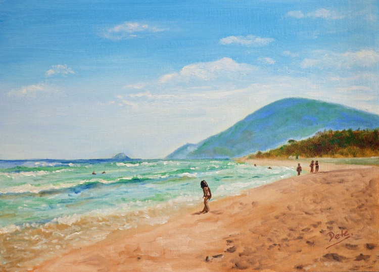 The little girl in Maresias beach - Image 0