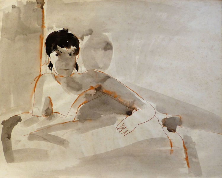Morning in Bed, 56x44 cm - Image 0