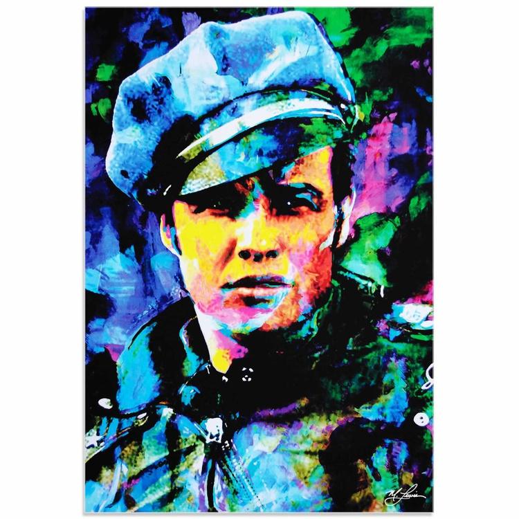 Mark Lewis 'Marlon Brando Whadda Ya Got' Limited Edition Pop Art Print on Acrylic - Image 0