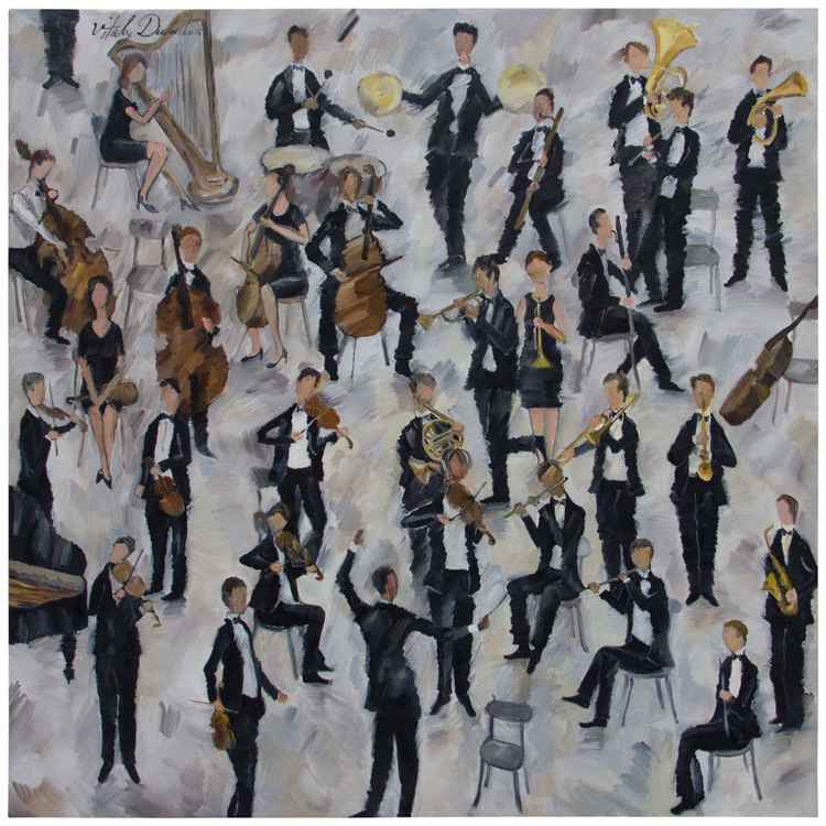 Orchestra Get Together (130x130cm)