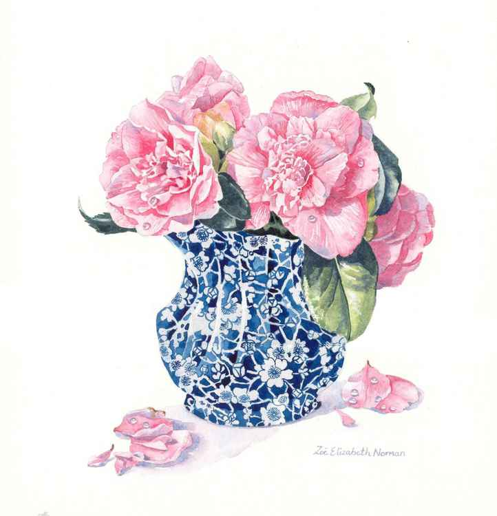Chinese Vase of Camellias