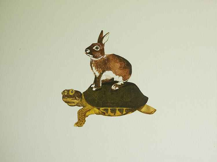 The Rabbit Rides a Tortoise -