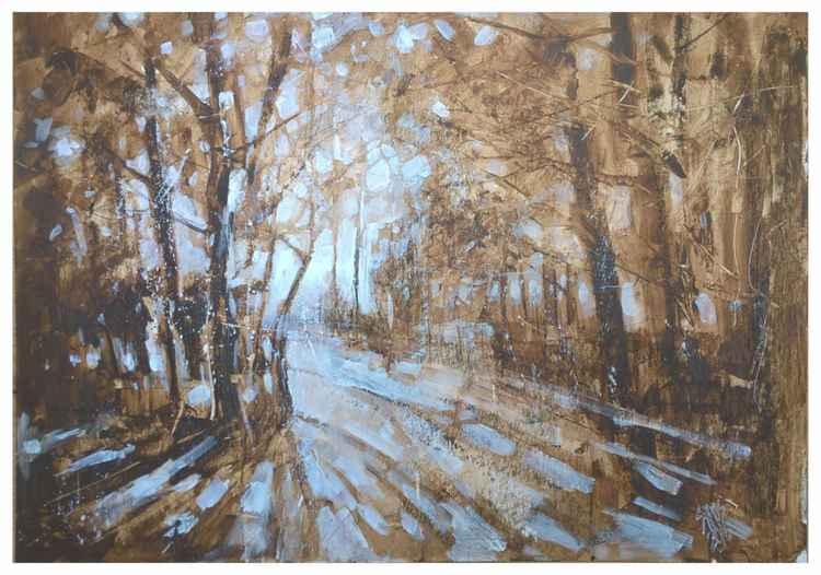 Monochrom forest