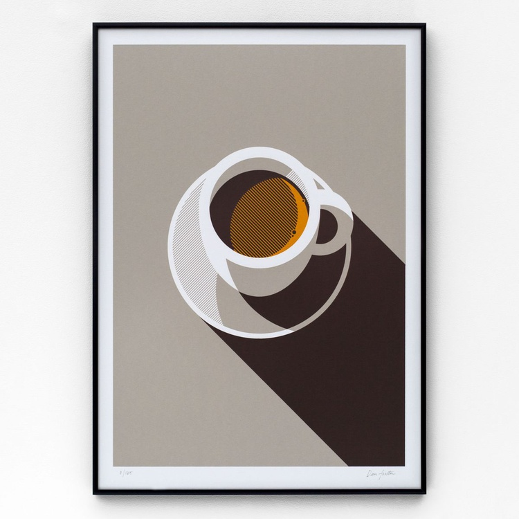 Espresso A2 limited edition screen print - Image 0