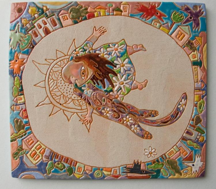 """Flight"" ceramic panel - Image 0"