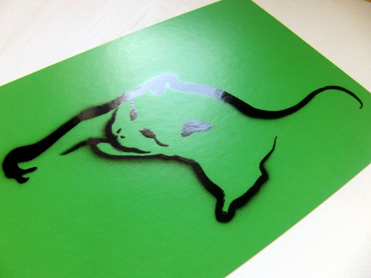 Full Motion! #1, Black&Color edition, color GREEN, (serie #1) - Image 0