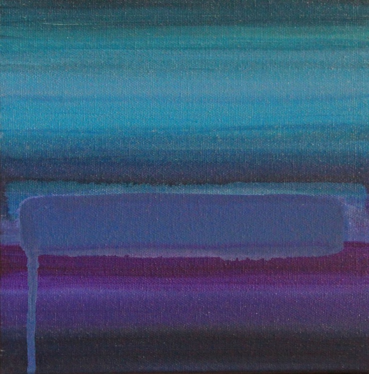 Voodoo Blue, abstract seascape - Image 0