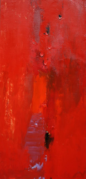 Red Abstract Panel - Image 0