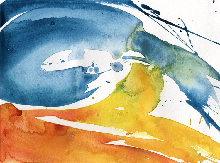 Serenity 11 - Abstract Watercolor Painting by Kathy Morton Stanion - Image 0