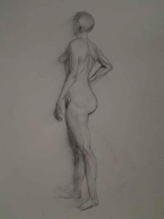 Charcoal Figure Study -