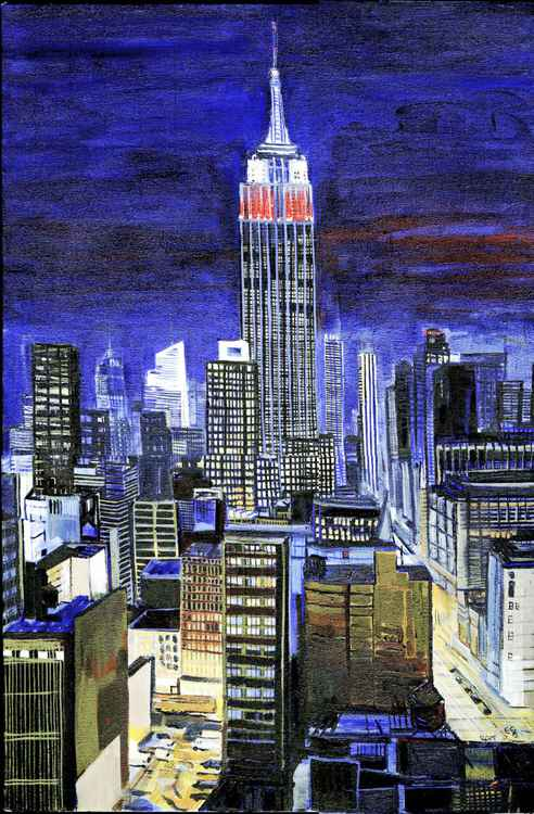 Night View of the Empire State Building -