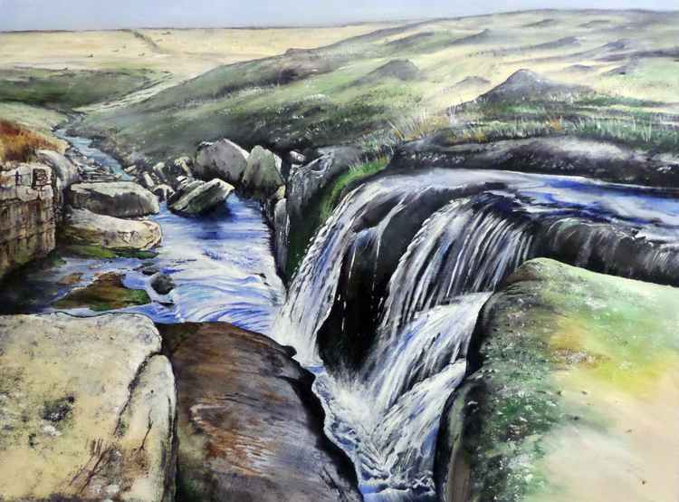 Waterfall on the Moor -