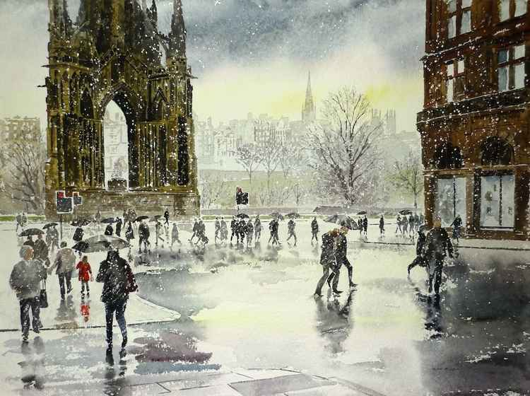 Edinburgh in the Snow -